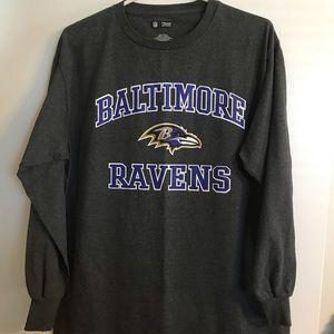 Baltimore Ravens Long Sleeve - Grey